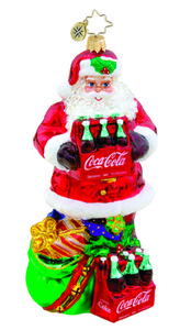 RADKO 1015670 THE PERFECT GIFT - SANTA WITH COCA COLA BOTTLES - NEW 2011 (11-15)