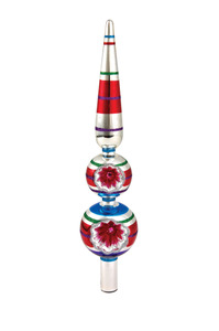 RADKO 4025120 SHINY BRITE - JUBILANT JOLLY REFLECTOR FINIAL - NEW FOR 2011