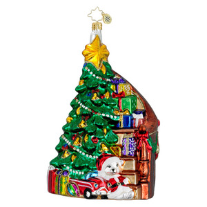 RADKO 1016037 HOME FOR THE HOLIDAYS - TREE & STAIRS - GIFT STORE EXCLUSIVE - NEW 2012 (12-2)