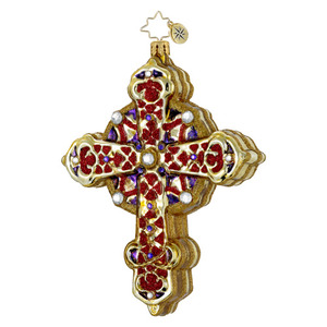 RADKO 1015956 BYZANTINE BEAUTY - CROSS - RELIGIOUS ORNAMENT - NEW 2012 (12-3)