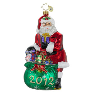 RADKO 1016168 A VERY GOOD YEAR - DATED 2012 - SANTA WITH BAG OF GIFTS (12-2)
