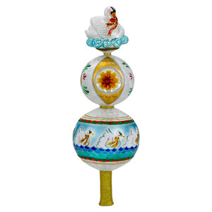 RADKO 1016370 SWANS A SWIMMING FINIAL - 12 DAYS OF CHRISTMAS - TREE TOPPER - NEW 2012