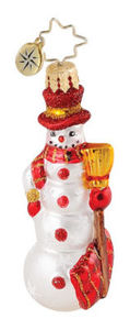 RADKO 1015084 SNOWTIME GEM - SNOWMAN ORNAMENT - RETIRED (18)