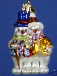 RADKO 01-0563-0 SNOW SNUGGLE GEM - SNOWMAN - RETIRED ORNAMENT (13)