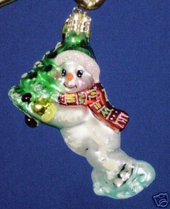 RADKO 01-0561-0 TOE LOOP SCOOP GEM - SNOWMAN - RETIRED ORNAMENT (13)