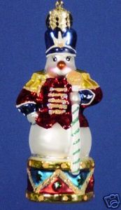 RADKO 01-0562-0 MAJOR SNOW DRUM GEM - SNOWMAN - RETIRED ORNAMENT (13)
