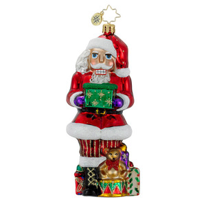 RADKO 1016086 CRACKIN' CLAUS - NUTCRACKER SANTA ORNAMENT - NEW FOR 2012 (12-8)
