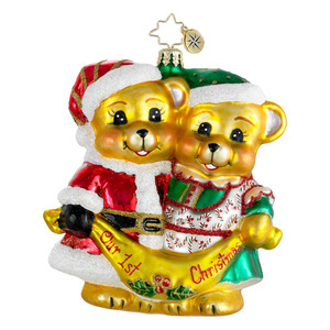 RADKO 1016177 FIRST CHRISTMAS CUDDLES - OUR 1ST CHRISTMAS BEARS ORNAMENT - NEW 2012 (12-11)