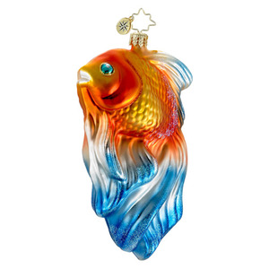 RADKO 1016043 GOLDIE - GOLD FISH - SUMMER ORNAMENT - NEW 2012 (12-6)