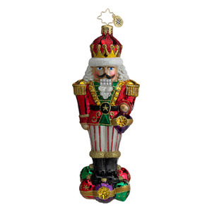 RADKO 1016081 SURROUNDED BY FUN - NUTCRACKER ORNAMENT - NEW FOR 2012 (12-7)