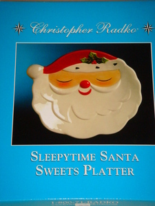 RADKO 2011452 SLEEPY TIME SANTA PLATTER - 8