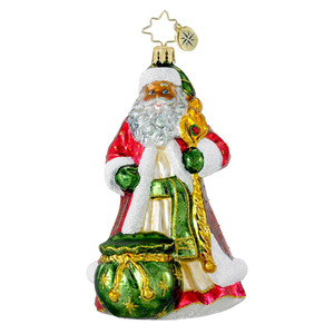 RADKO 1016351 KINGLY CLAUS - GLORIOUS SANTA WITH STAFF ORNAMENT - NEW 2012 (12-16)