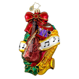 RADKO 1016265 HOLIDAY HARMONY - MUSICAL - VIOLIN - SAXOPHONE - WREATH ORNAMENT - NEW 2012 (12-13)