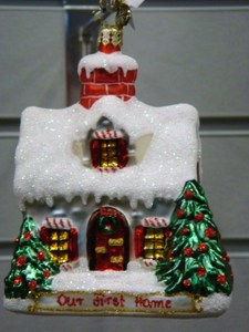 RADKO 3012370 OUR FIRST HOME - NOT DATED - EXCLUSIVE - RETIRED ORNAMENT (11-16)