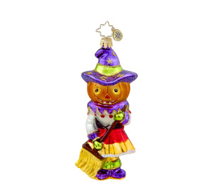 RADKO 1015496 WITCHY POO - HALLOWEEN - WITCH WITH BROOM - RETIRED ORNAMENT (H4)