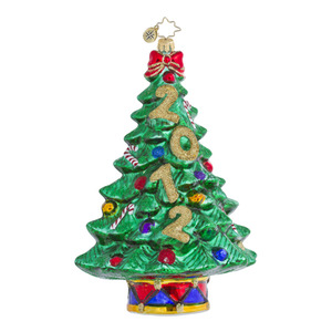 RADKO 1016454 PINE TIME - TREE - DATED ORNAMENT - NEW 2012 (12-2)