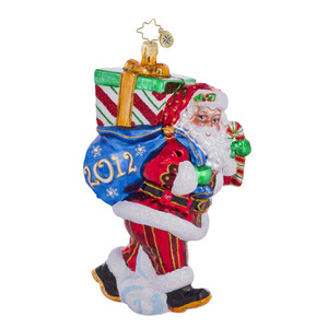RADKO 1016479 PERFECT TIMING NICK - DATED 2012 - SANTA ORNAMENT - NEW 2012 (12-2)