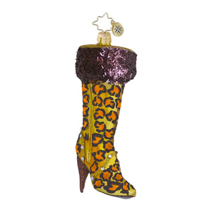RADKO 1016433 VERY BEST BOOTS - LEOPARD LADIES BOOT ORNAMENT - NEW 2013 (13-3)