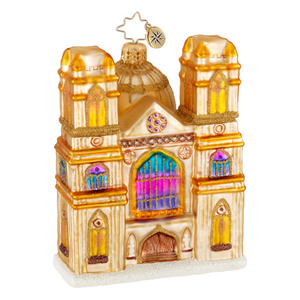RADKO 1016279 GOTHIC SPLENDOR - GLORIOUS CHURCH ORNAMENT - NEW 2012 (12-14)