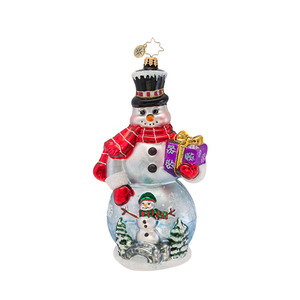 RADKO 1016887 WINTER WONDERLAND MAN - LIMITED EDITION OF 600 - SNOWMAN WITH PAINTED SCENE - NEW 2013 (13-2)