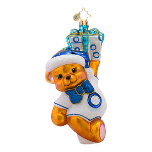 RADKO 1016965 BEAR-Y MERRY - DIABETES AWARENESS - BEAR ORNAMENT - NEW 2013 (13-1)