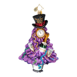 RADKO 1016646 RING IT IN - NOT DATED - HAPPY NEW YEAR ORNAMENT - NEW 2013 (13-2)