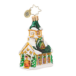 RADKO 1016753 ALL ARE WELCOME GEM - CHURCH ORNAMENT - NEW 2013 (21)