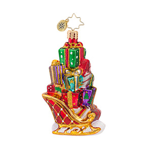 RADKO 1016756 GIFTS ON THE GO GEM - SLEIGH & PRESENTS ORNAMENT - NEW 2013 (21)