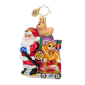 RADKO 1016762 SHOWERED WITH TOYS GEM - BABY'S 1ST - SANTA ORNAMENT - NEW 2013 (21)