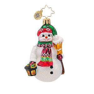 RADKO 1016764 LIGHTING THE WAY GEM - SNOWMAN WITH LANTERN ORNAMENT - NEW 2013 (21)