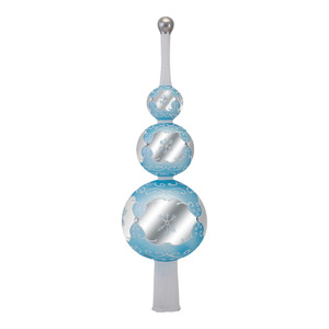 RADKO 1016927 WINTER LACE FINIAL - TRIPLE BALLS - TREE TOPPER - NEW 2013 (F4)