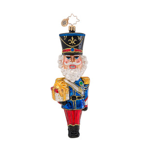 RADKO 1016816 DASHING DANGLE HEAD - 2 PIECE BOBBLE HEAD NUTCRACKER ORNAMENT - NEW 2013 (13-15)
