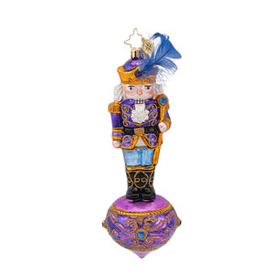 RADKO 1016580 A PLUM CRACKER - ELEGANT PURPLE NUTCRACKER ORNAMENT - NEW 2013 (13-7)