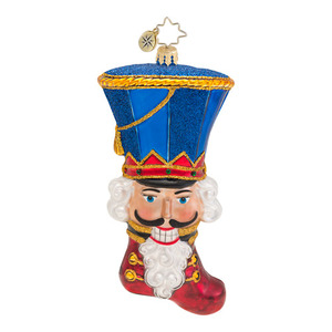 RADKO 1016544 CRACKING A SMILE - NUTCRACKER STOCKING ORNAMENT - NEW 2013 (13-6)