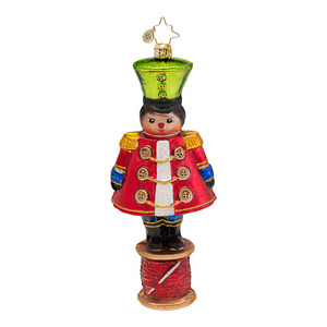 RADKO 1016726 MILITARY SPOOL - LITTLE SOLDIER NUTCRACKER ORNAMENT - NEW 2013 (13-13)