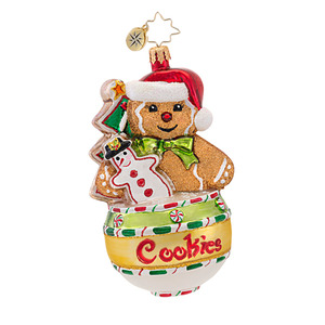 RADKO 1016836 COOKIE JAR JAMS - GINGERBREAD MAN ORNAMENT - NEW 2013 (13-16)
