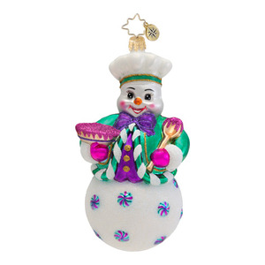 RADKO 1016779 BRRRR BAKER! - BAKING SNOWMAN ORNAMENT - NEW 2013 (13-14)