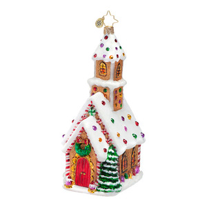 RADKO 1016691 CANDIED CATHEDRAL - CANDY CHURCH ORNAMENT - NEW 2013 (13-11)