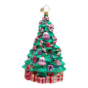 RADKO 1016540 SWEET TREAT TREE - TREE WITH CANDY CANES ORNAMENT - NEW 2013 (13-6)