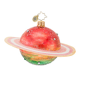 RADKO 1016663 COSMIC GEM - CLASSIC RADKO JEWELED SATURN ORNAMENT - NEW 2013 (13-10)