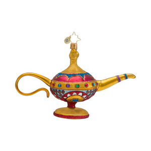 RADKO 1016684 THREE WISHES - CLASSIC RADKO MAGIC LAMP ORNAMENT - NEW 2013 (13-11)