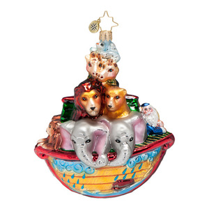 RADKO 1016687 TWO BY TWO - NOAH'S ARK ORNAMENT - NEW 2013 (13-11)