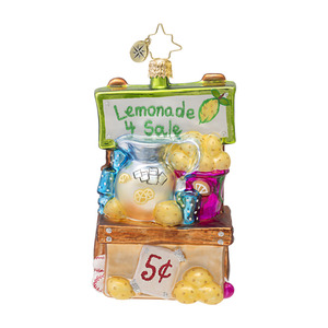 RADKO 1016981 LEMONADE FOR SALE! - LEMONADE STAND ORNAMENT - NEW 2013 (13-19)