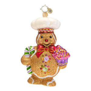 RADKO 1016577 GINGER BAKER - BAKING GINGERBREAD MAN ORNAMENT - NEW 2013 (13-7)