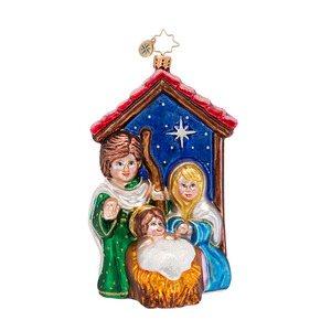 RADKO 1016896 BLESSED BIRTH - RELIGIOUS - JESUS MARY & JOSEPH ORNAMENT - NEW 2013 (13-18)