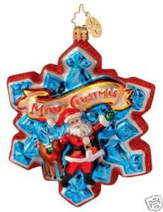 RADKO 1012914 A BLIZZARD OF CHEER - DATED 2006 - SANTA - RETIRED ORNAMENT (N)