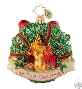 RADKO 1015054 HEART FELT HOLLY GEM - 1ST CHRISTMAS - RETIRED ORNAMENT (18)