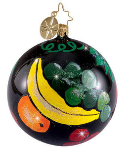 RADKO 1012155 RIPE HARVEST GEMS - SET OF 3 - FRUIT - RETIRED ORNAMENTS