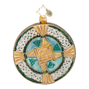 RADKO 1016668 BRIGID'S BLESSING - BRIGID'S CROSS - IRISH - RELIGIOUS ORNAMENT - NEW 2013 (13-10)