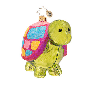 RADKO 1016912 POKEY - TURTLE - PATTERNED ANIMAL COLLECTION ORNAMENT - NEW 2013 (13-18)